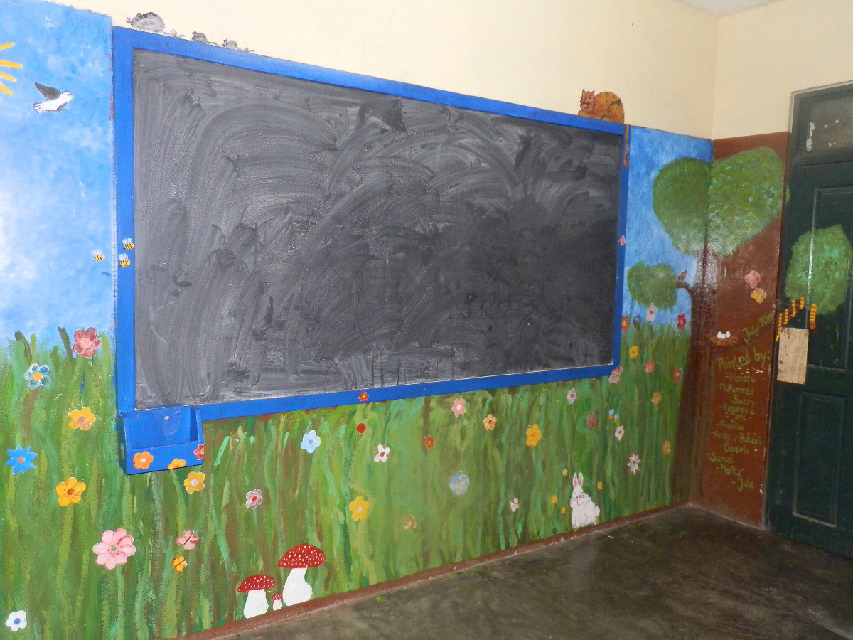 Nach 6 Stunden war Klassenraum 1 fertig.