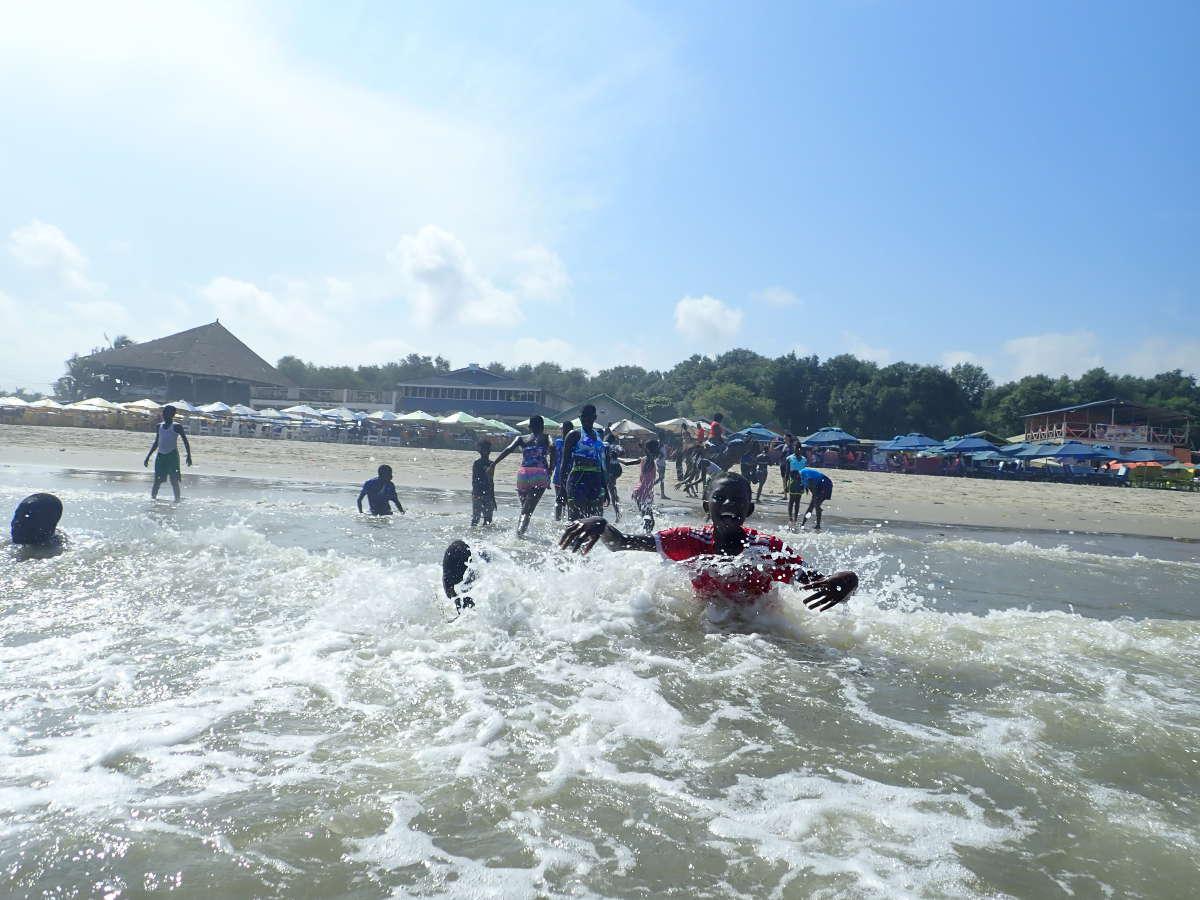 Zum Abschluss hieß es ab ins Wasser, das Highlight unseres Ausflugs.