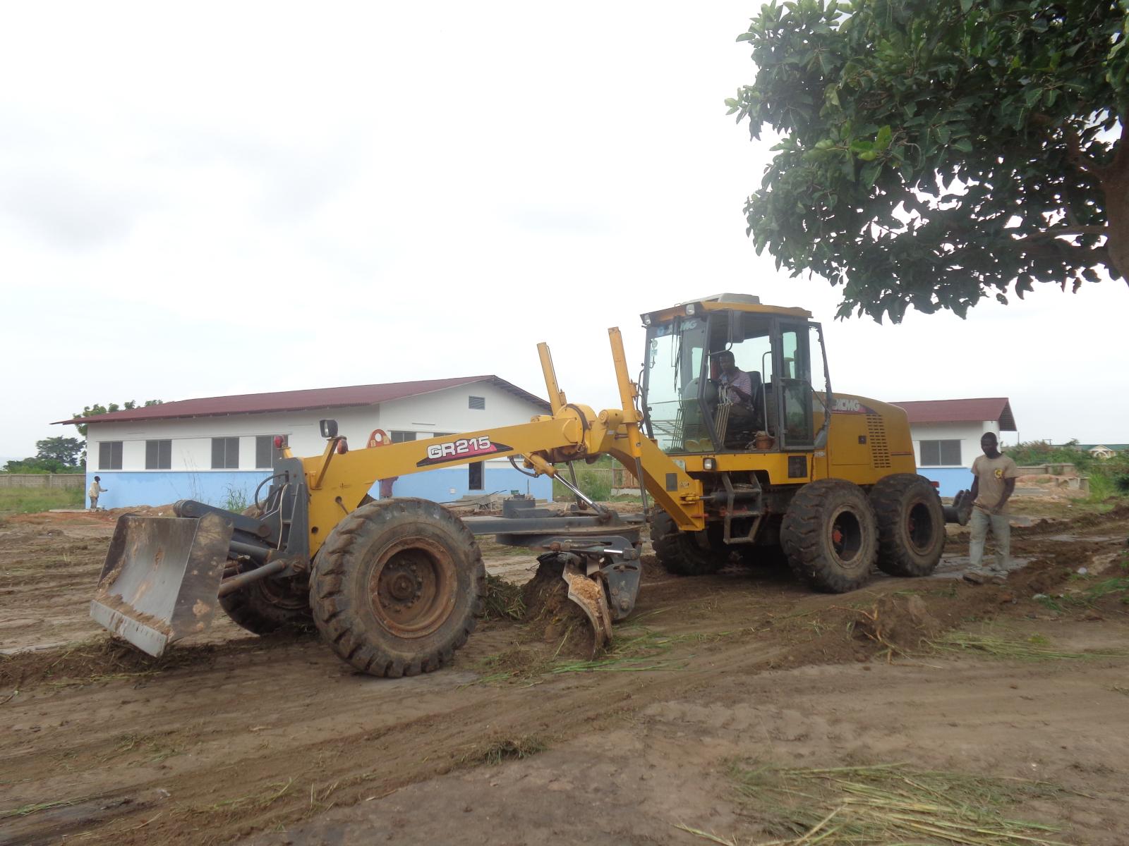 Erster Ausbau 2013 - Natürlich wurden dabei schwere Maschinen genutztz